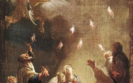 Flames of Pentecost descend